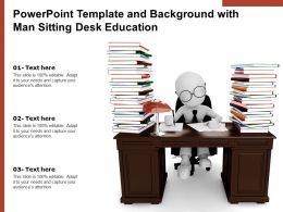Powerpoint Template And Background With Man Sitting Desk Education