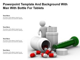 Powerpoint Template And Background With Man With Bottle For Tablets