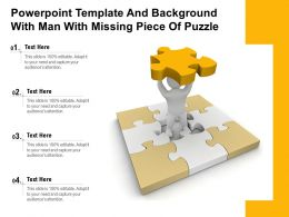 Powerpoint Template And Background With Man With Missing Piece Of Puzzle