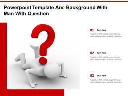 Powerpoint Template And Background With Man With Question