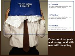 Powerpoint Template And Background With Man With Recycling