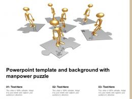 Powerpoint Template And Background With Manpower Puzzle