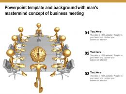 Powerpoint Template And Background With Mans Mastermind Concept Of Business Meeting