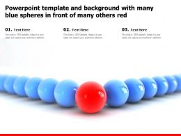 Powerpoint Template And Background With Many Blue Spheres In Front Of Many Others Red