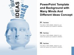 Powerpoint Template And Background With Many Minds And Different Ideas Concept