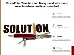 Powerpoint Template And Background With Many Ways To Solve A Problem Conceptual