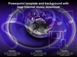 Powerpoint Template And Background With Map Internet Music Download