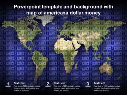 Powerpoint Template And Background With Map Of Americana Dollar Money