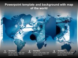 Powerpoint Template And Background With Map Of The World