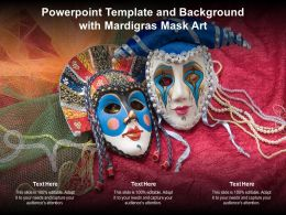 Powerpoint Template And Background With Mardigras Mask Art Ppt Powerpoint