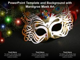 Powerpoint Template And Background With Mardigras Mask Art