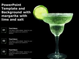 Powerpoint Template And Background With Margarita With Lime And Salt