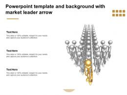 Powerpoint Template And Background With Market Leader Arrow