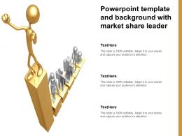 Powerpoint Template And Background With Market Share Leader