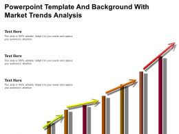 Powerpoint Template And Background With Market Trends Analysis