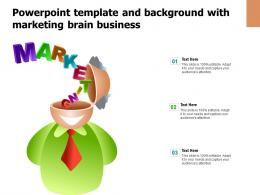 Powerpoint Template And Background With Marketing Brain Business