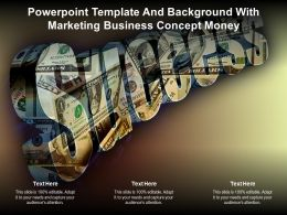 Powerpoint Template And Background With Marketing Business Concept Money