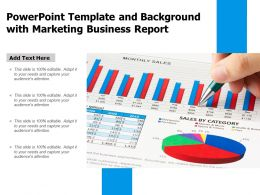 Powerpoint Template And Background With Marketing Business Report
