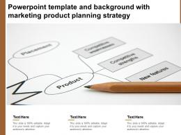 Powerpoint Template And Background With Marketing Product Planning Strategy