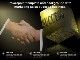 Powerpoint Template And Background With Marketing Sales Success Business