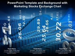 Powerpoint Template And Background With Marketing Stocks Exchange Chart