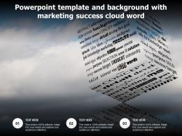 Powerpoint Template And Background With Marketing Success Cloud Word
