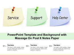 Powerpoint Template And Background With Massage On Post It Notes Paper