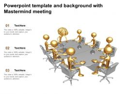 Powerpoint Template And Background With Mastermind Meeting