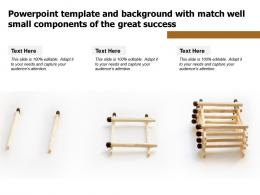 Powerpoint Template And Background With Match Well Small Components Of The Great Success