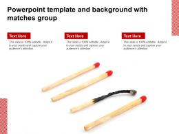 Powerpoint Template And Background With Matches Group