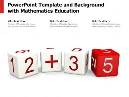 Powerpoint Template And Background With Mathematics Education