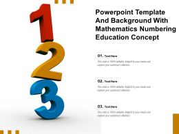 Powerpoint Template And Background With Mathematics Numbering Education Concept