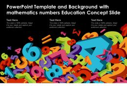 Powerpoint Template And Background With Mathematics Numbers Education Concept Slide