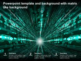 Powerpoint Template And Background With Matrix Like Background