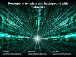 Powerpoint Template And Background With Matrix Like