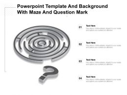 Powerpoint Template And Background With Maze And Question Mark