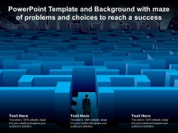Powerpoint Template And Background With Maze Of Problems And Choices To Reach A Success