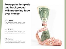 Powerpoint Template And Background With Measuring Tape Over Money