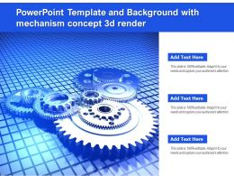 Powerpoint Template And Background With Mechanism Concept 3d Render