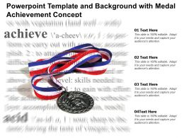 Powerpoint Template And Background With Medal Achievement Concept