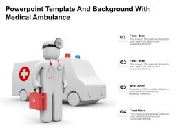 Powerpoint Template And Background With Medical Ambulance