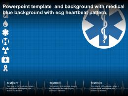 Powerpoint Template And Background With Medical Blue Background With ECG Heartbeat Pattern