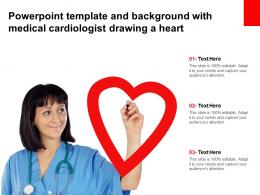 Powerpoint Template And Background With Medical Cardiologist Drawing A Heart