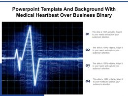 Powerpoint Template And Background With Medical Heartbeat Over Business Binary