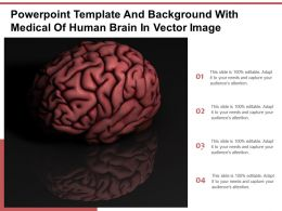 Powerpoint Template And Background With Medical Of Human Brain In Vector Image