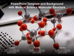 Powerpoint Template And Background With Medical Science Molecular Structure