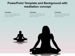 Powerpoint Template And Background With Meditation Concept