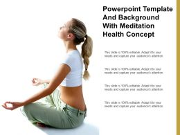 Powerpoint Template And Background With Meditation Health Concept