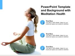 Powerpoint Template And Background With Meditation Health