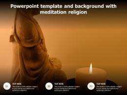 Powerpoint Template And Background With Meditation Religion
